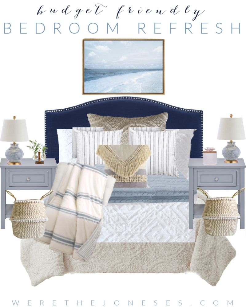 Guest bedroom decor with Better homes and gardens bedding