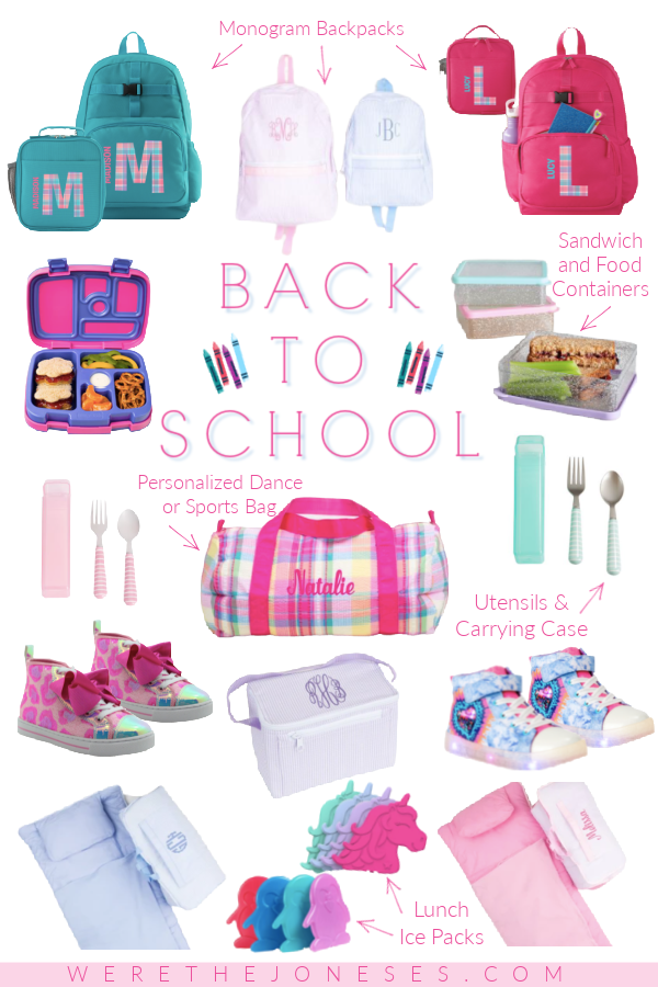 back to school supplies for girls and boys